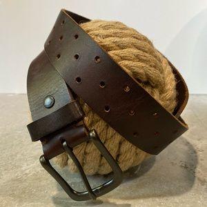 AEO Genuine Leather Belt Wide dark leather
